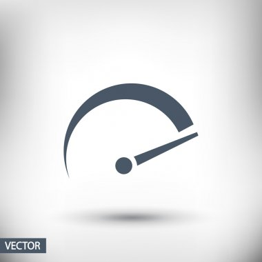 Tachometer icon illustration
