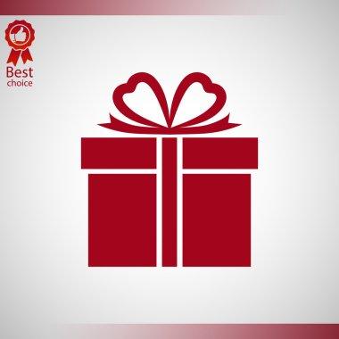 Gift box Vector icon clip art vector
