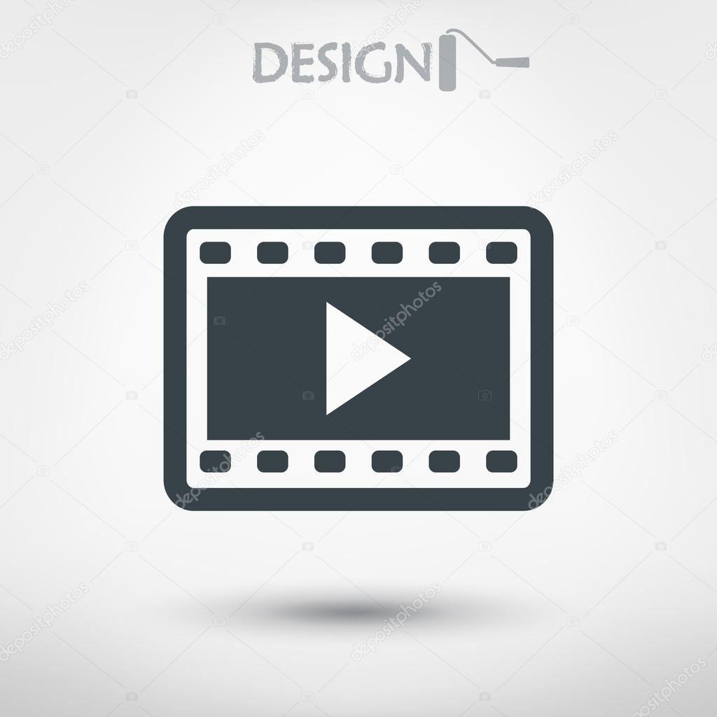 Video icon, flat design