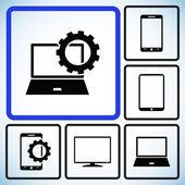 Nastavení ikon elektronické zařízení