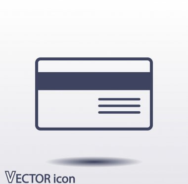 Bank credit card icon