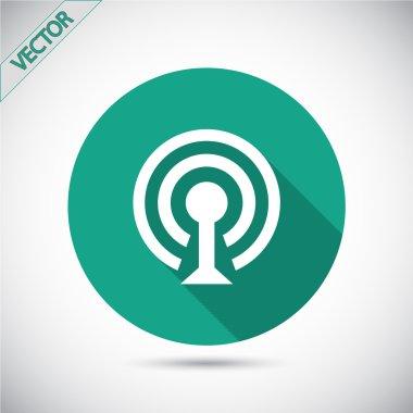 Wireless Network Symbol of wifi icon