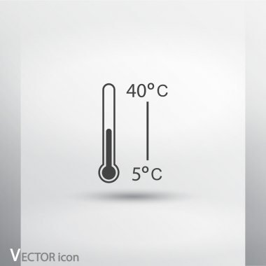 Thermometer icon, vector illustration. Flat design style clip art vector