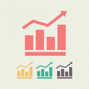 Infographic, chart  icon, vector illustration. Flat design style