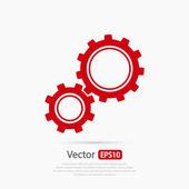 Fotografie Gears icon, Flat design style
