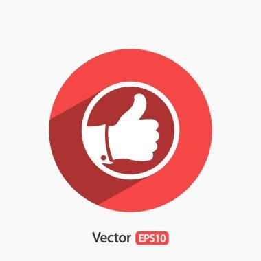 LIKE icon ,  Flat design style