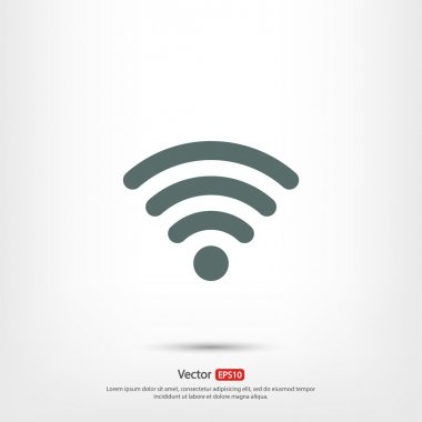 Wireless Icon,  Flat design style