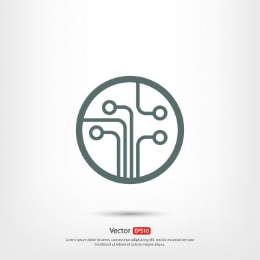 Circuit board, technology icon