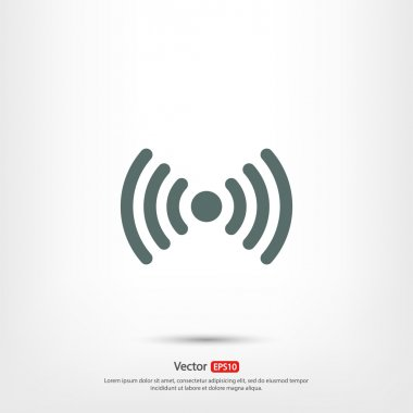Wireless Icon , Flat design style