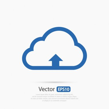 computing cloud upload icon
