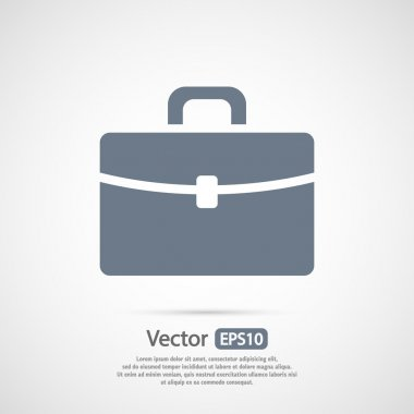 Briefcase icon, Flat design