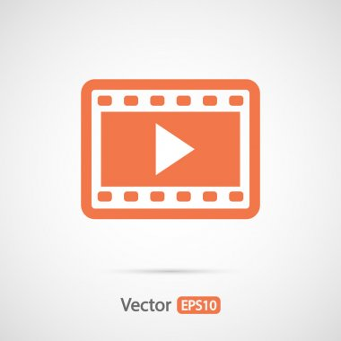 Video icon, flat design