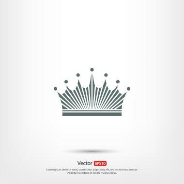 Crown  icon, Flat design style