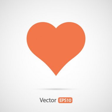 Hearts icon, flat design
