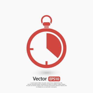 Stopwatch icon, vector illustration. Flat design style stock vector