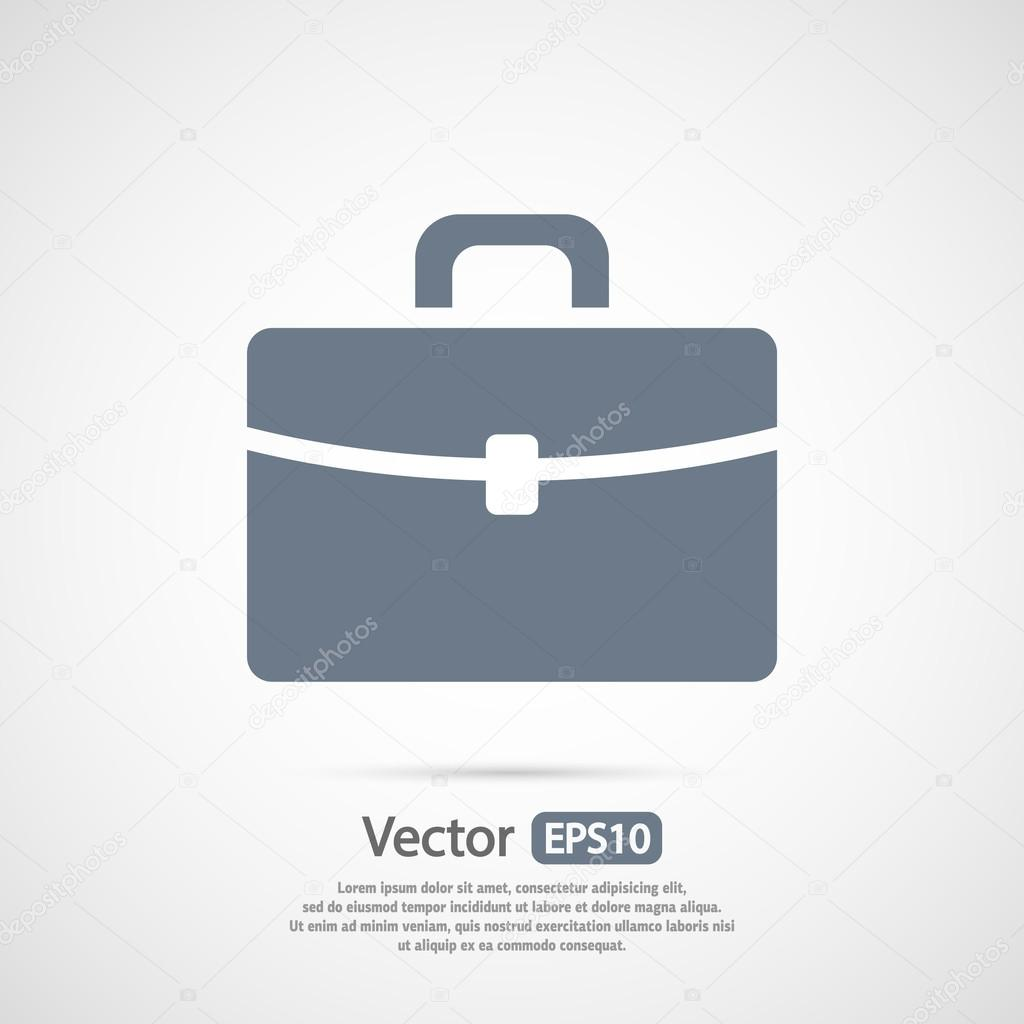Briefcase icon, Flat design