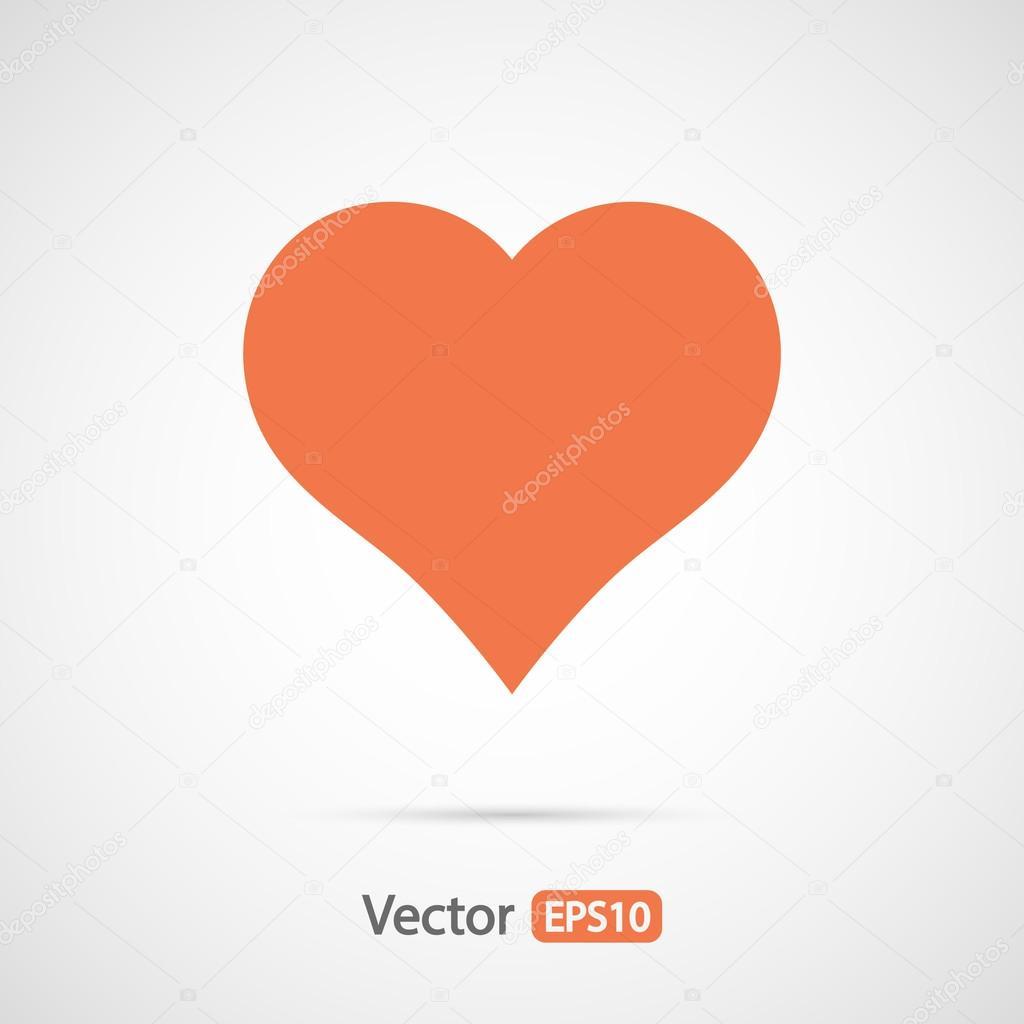 Hearts icon, flat design