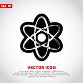 Photo Atom icon. flat design