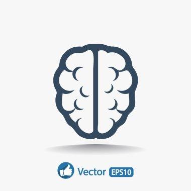 Brain icon Flat design style