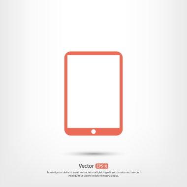 Modern digital tablet PC icon