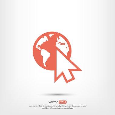 go to web icon,  Flat style