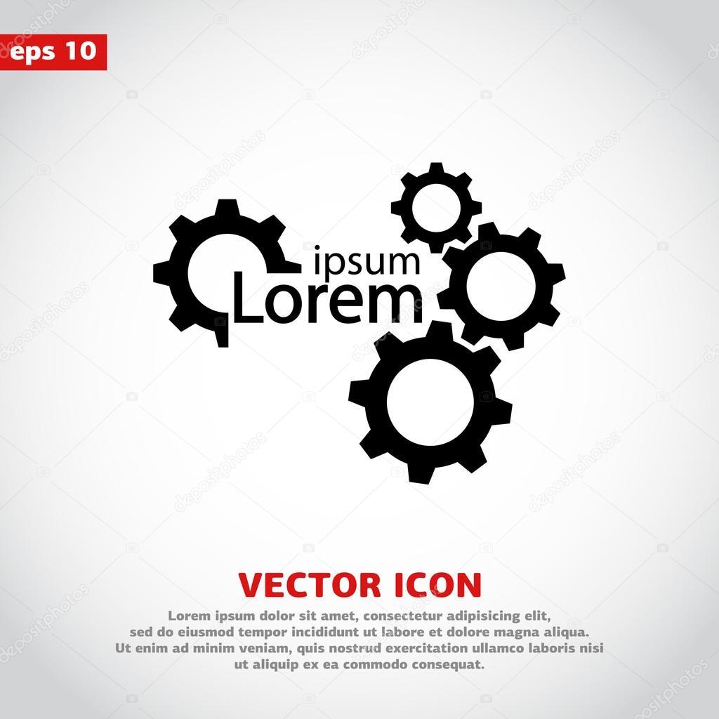 Gear icon design .
