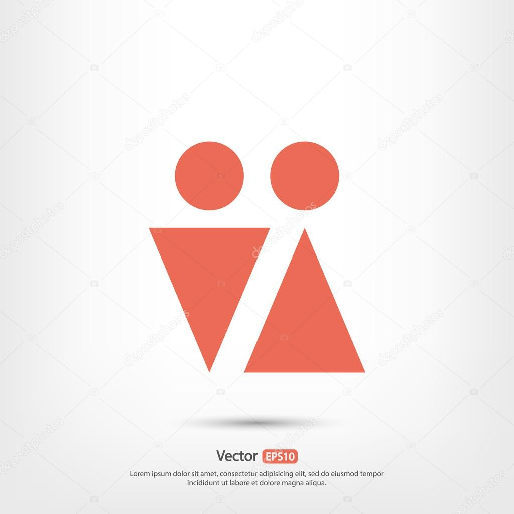 Male and female symbols icon stock vector best3d 80797672 male and female symbols icon stock vector buycottarizona