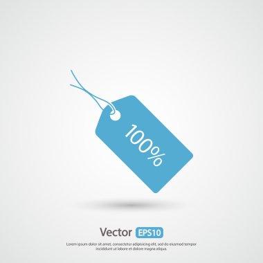 100 percent's tag icon