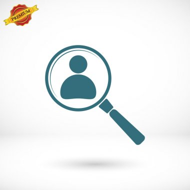 Looking For An Employee Search icon, illustration. Flat design style stock vector