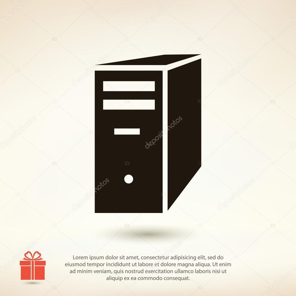 Computer server icon — Stock Vector © Best3d #97511250
