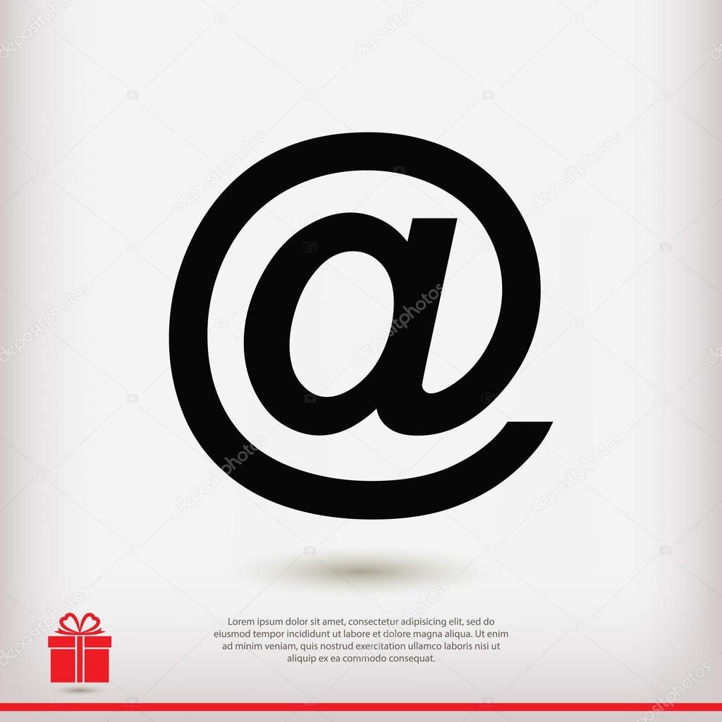 E mail internet icon stock vector best3d 97512548 e mail internet icon vector illustration flat design style vector by best3d biocorpaavc