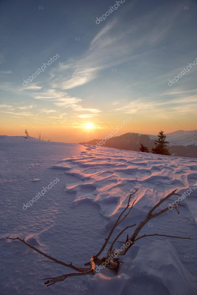 Carpathian mountains winter