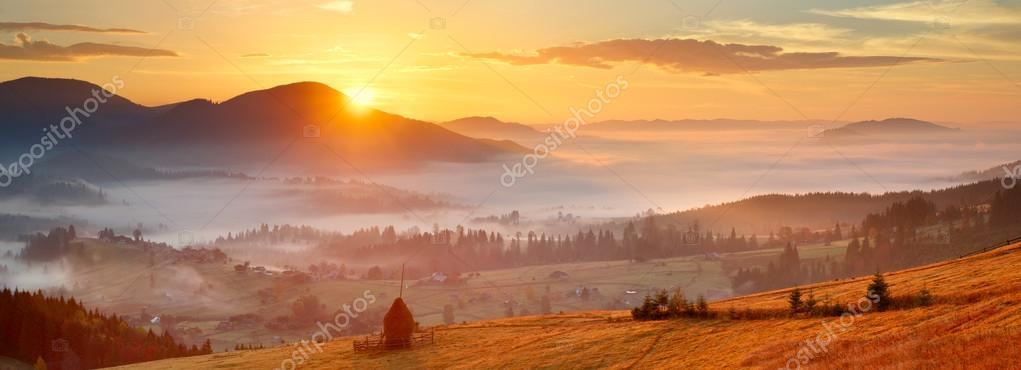 Sunrise in spring