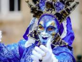 Redakce, 6 březen 2016: Rosheim, Francie: benátský karneval maska