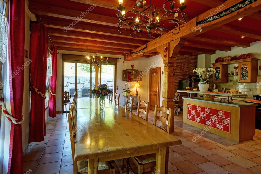 Interno Confortevole Casa Di Campagna In Stile Alsacien Foto Stock