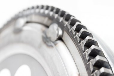 flywheel damper for automotive diesel engine on a white background