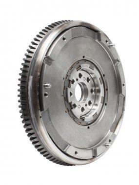 flywheel damper for automotive diesel engine on a white. car parts