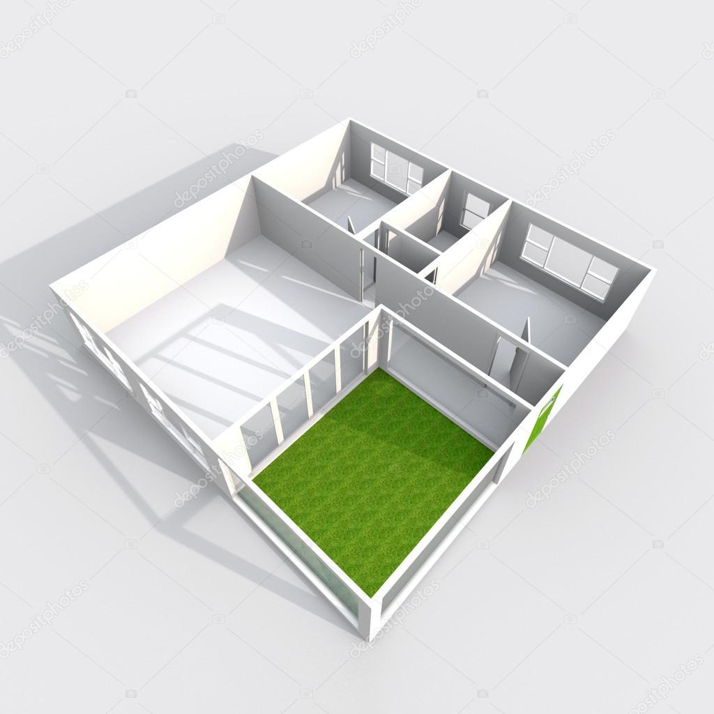 Rendering 3d interni di appartamento casa di modello di for Rendering 3d interni