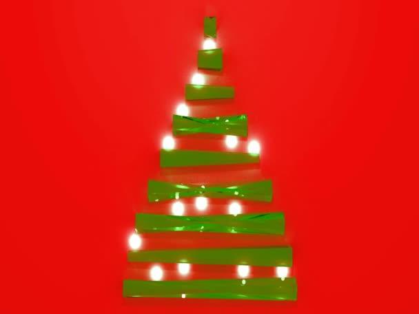 Glass and light blinking Christmas tree