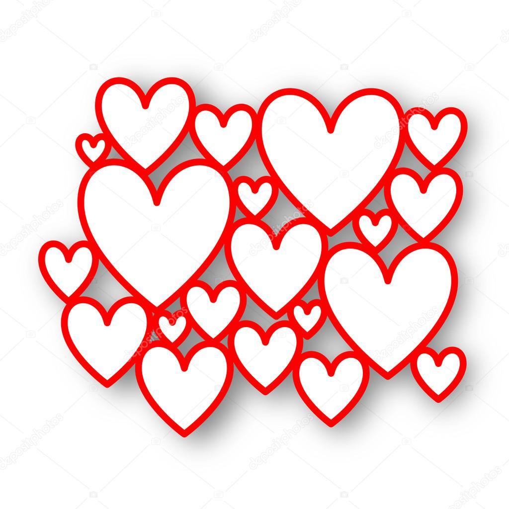 Red heart frames — Stock Photo © AlessandroMassimiliano #65500791