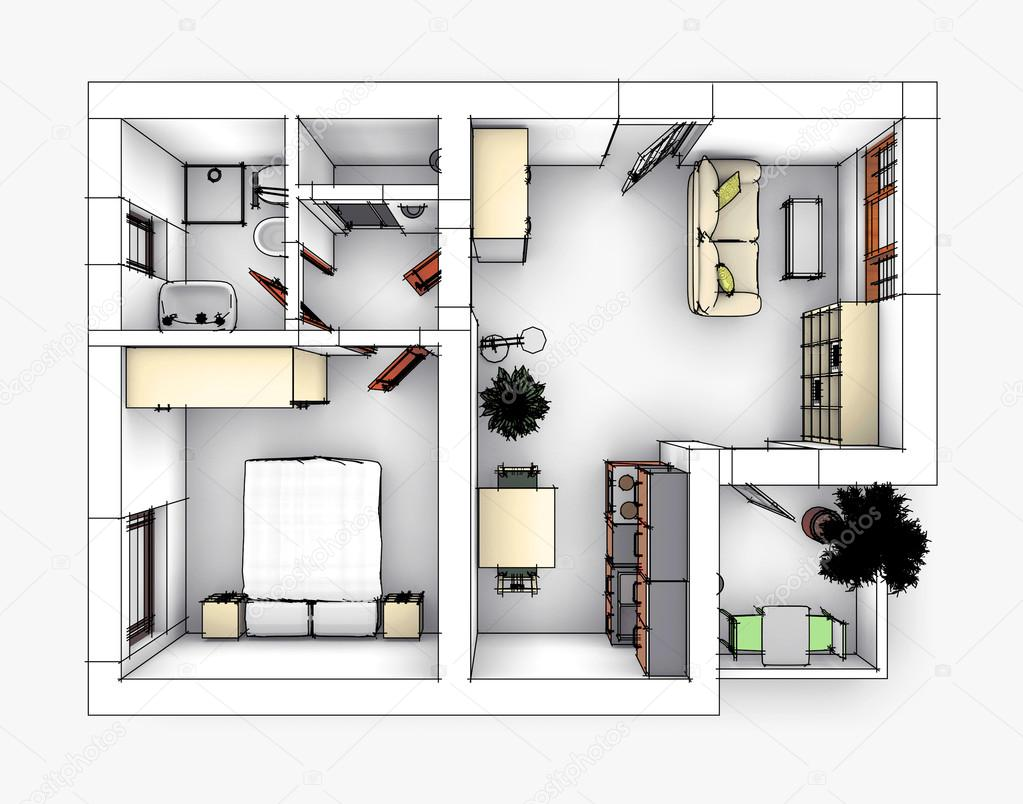 Piso 3 - dpto. #3 Depositphotos_77399306-stock-photo-apartment-drawing