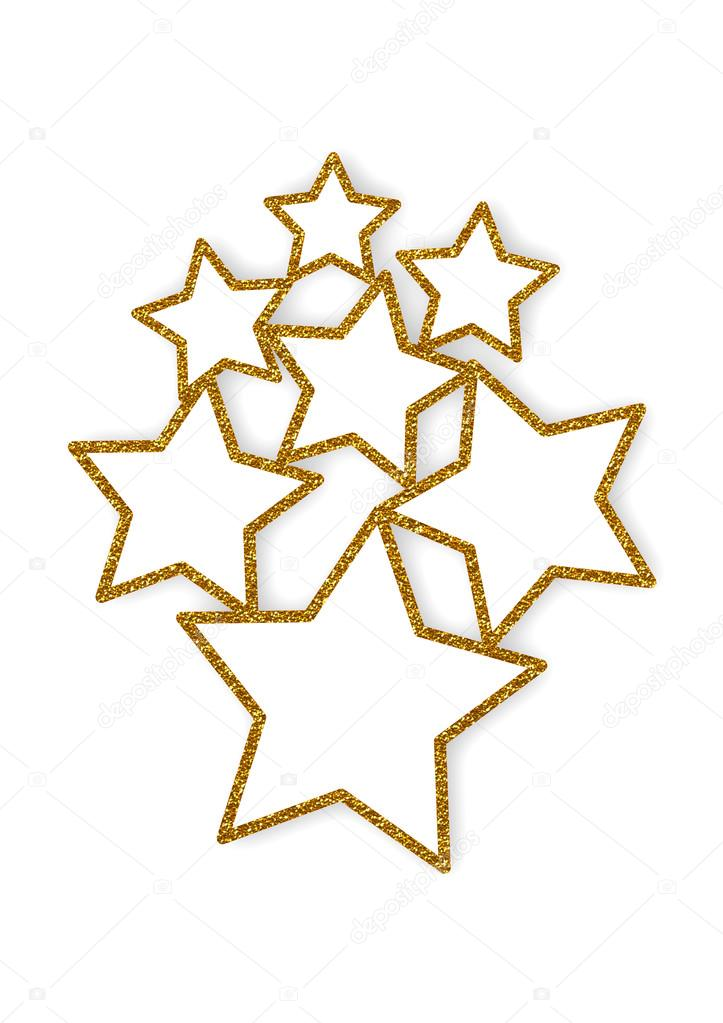Brillantes estrellas varios marcos — Foto de stock ...