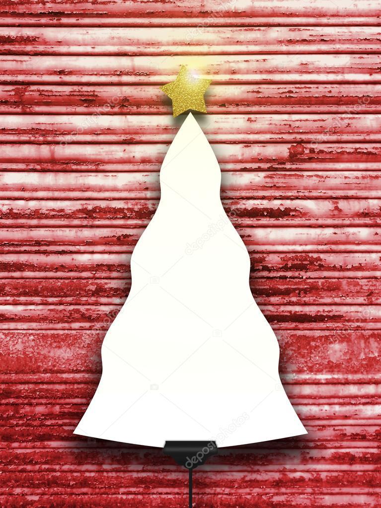 Único árbol de Navidad con forma de marco con encendido estrellas en ...