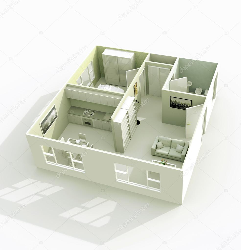 3d architectural model — Stock Photo