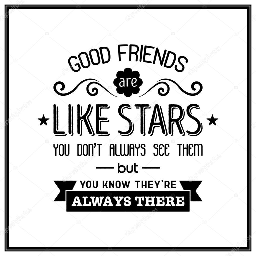 Freundschaft Zitat Von Typografische Hintergrund Stockvektor