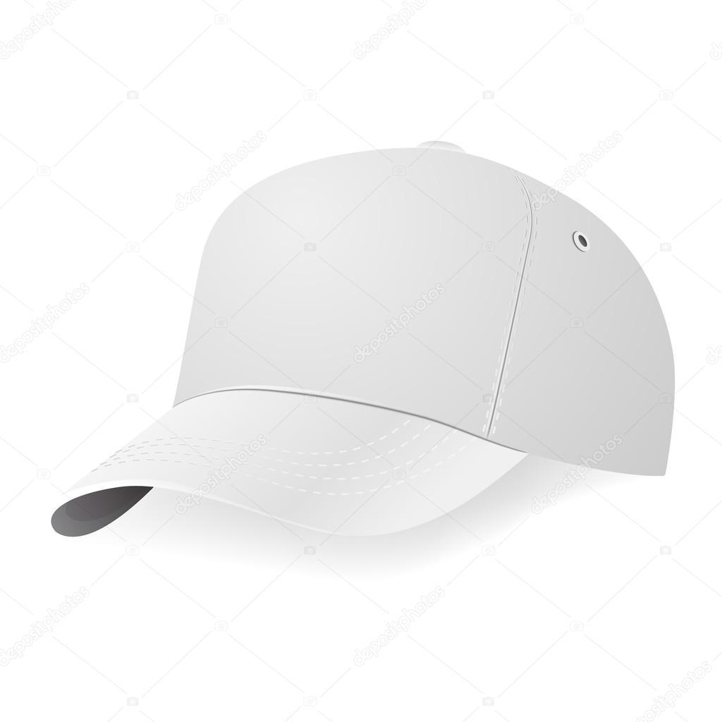 白い野球キャップ テンプレート ストックベクター gomolach 67603077