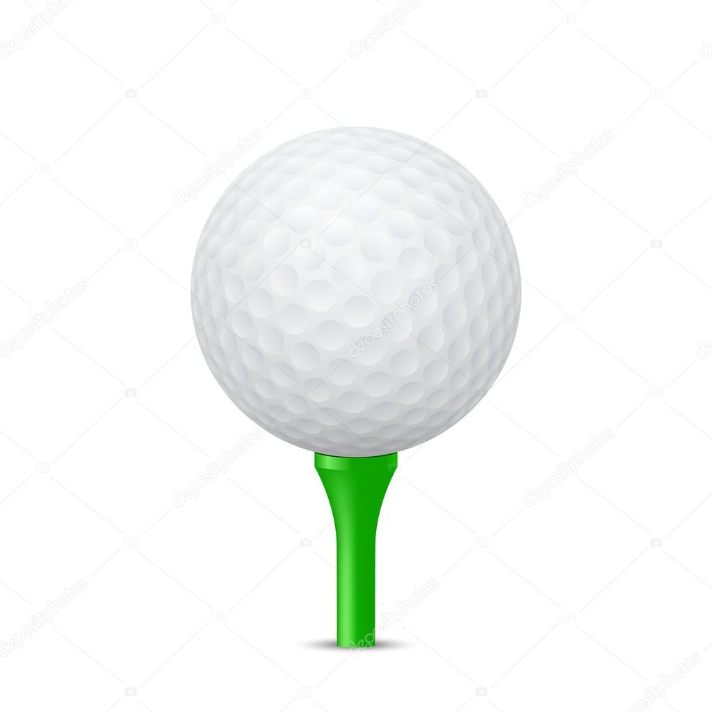 Golf Ball On A Green Tee Vector Illustration Stock Vector C Gomolach 69554779