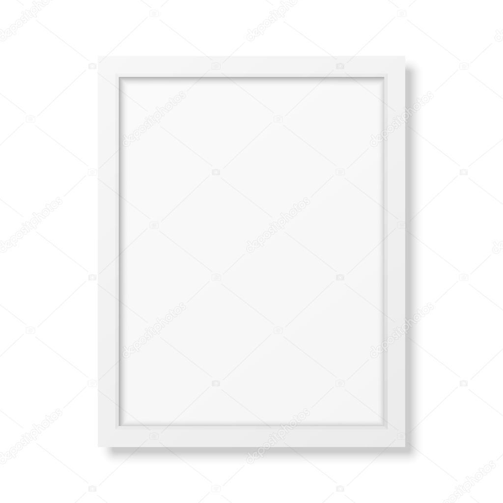 cadre blanc r aliste a4 image vectorielle gomolach 80655010. Black Bedroom Furniture Sets. Home Design Ideas