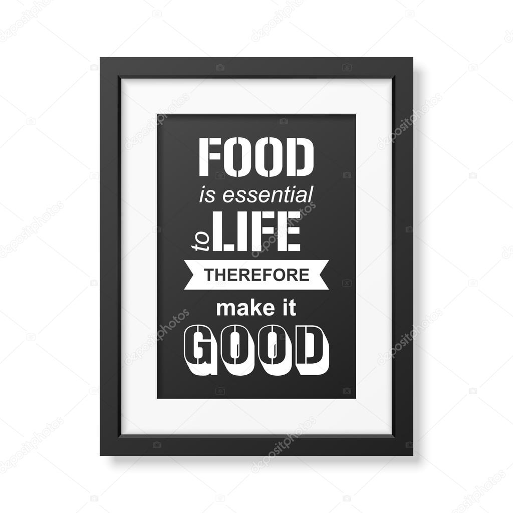 Quote typographical background in the realistic square black frame quote typographical background in the realistic square black frame stock vector jeuxipadfo Gallery