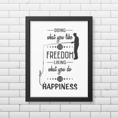 Quote typographical Background in the black frame
